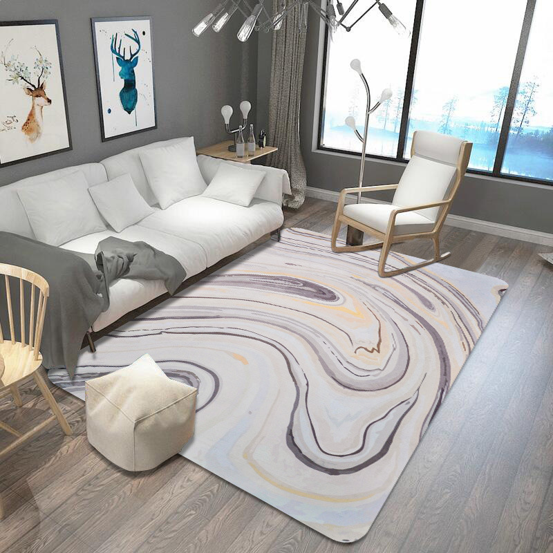 Nordic style Marble Pattern stripe Carpets for Living Room ...