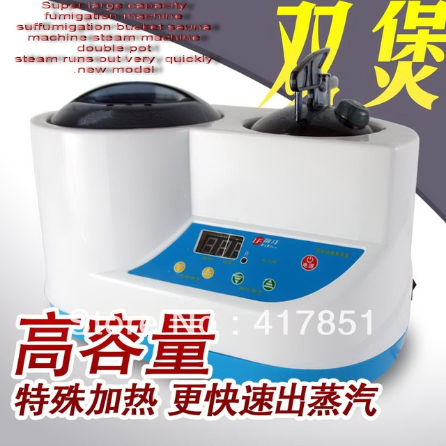Super large capacity fumigation machine suffumigation bucket sauna machine steam machine double pot health care products