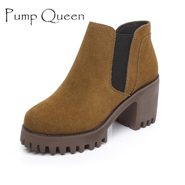 Chaussures automne à bout rond orange r2C54zqSNs