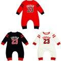 3 Цвета Одежда для Новорожденных Детская одежда Хлопок Печатных Jordan мальчик Bebes Комбинезон Младенцы С Длинным рукавом Комбинезоны Для новорожденных