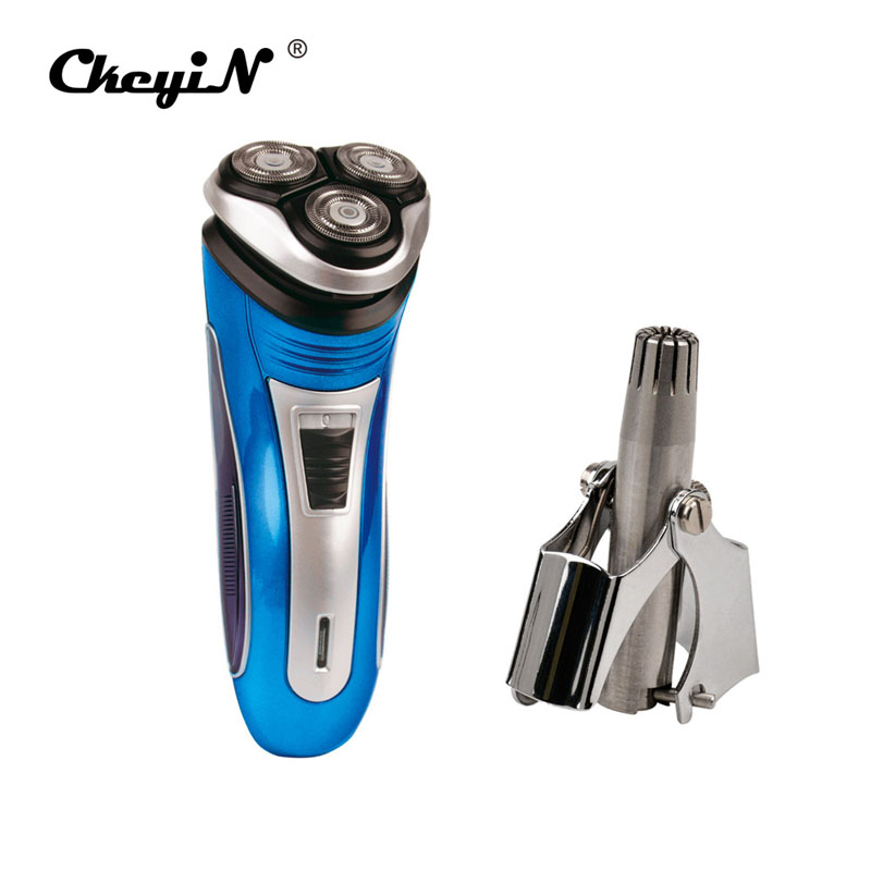 Rechargeable Intelligent shaving Men's Electric Shaver Razor + Nose Ear Trimmer Remover Cutting Machine For Adult Hair Cutter w519 multifunctional waterproof men rechargeable electric shaver razor blade shaving hair nose sideburn trimmer