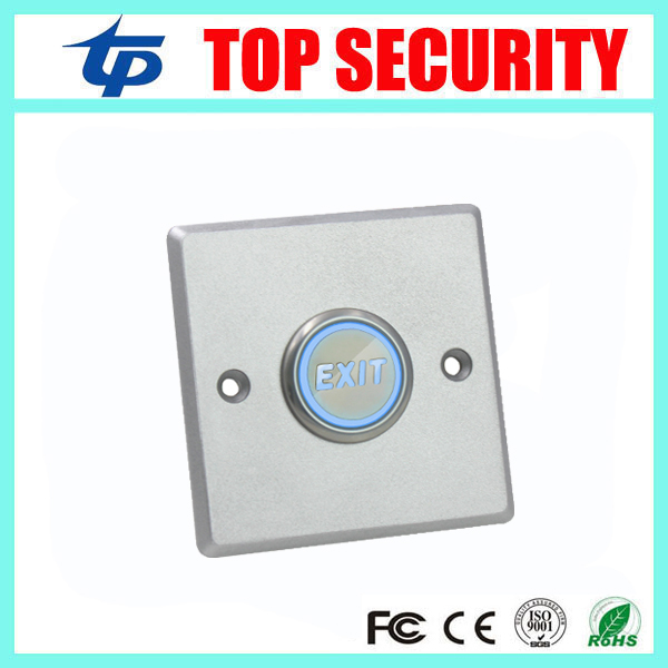 New Arrival Zinc Alloy Door Exit Button With Led Light Home Switch Panel Release Push Button For Access Control System lpsecurity stainless steel door access control led backlit led illuminated push button door lock release exit button switch