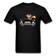 Fashion T Shirts Print Fox Car Styling Novelty Tshirts New Arrival Casual Tee Shirt Loose Big Size Funny Cartoon Men