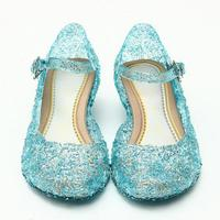 Children Girl Sandals Jelly Princess Dress Up Cosplay Kids Shoes Girls Mary Jane Shoes For Stage