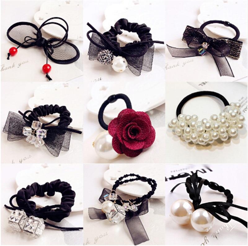 Korean Fashion Elastic Hair Rubber Bands Women Girls Ties Hair Rope Ring Accessories For Women Hair Scrunchie Headdress Headwear