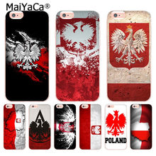 MaiYaCa Polen vlag Coque Shell Telefoon Case voor Apple iPhone 8 7 6 6S Plus X 5 5S SE 5C XS XR XSMAX(China)