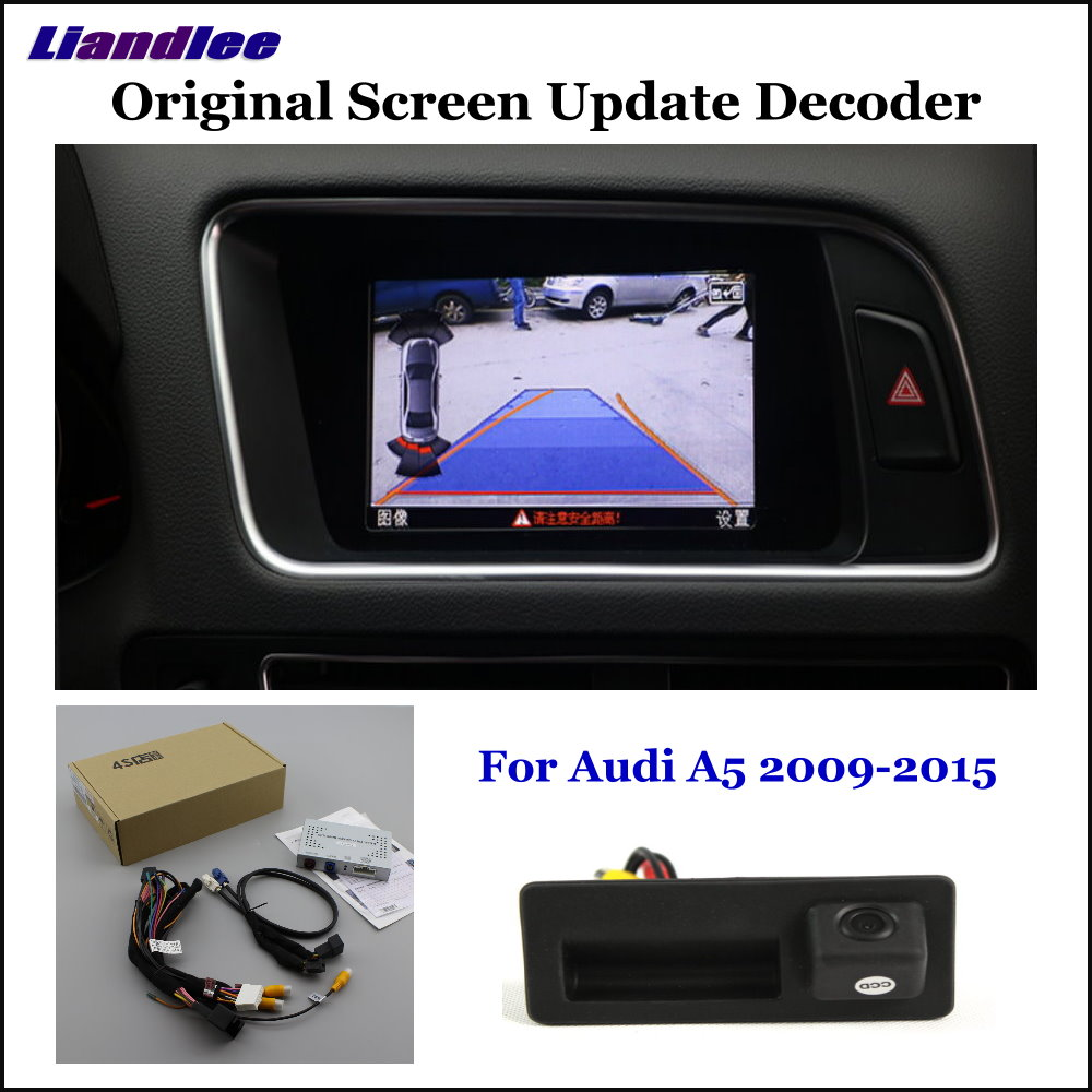 Liandlee Car Original Screen Update System For Audi A5 8T F5 Low Rear Reverse Parking Camera