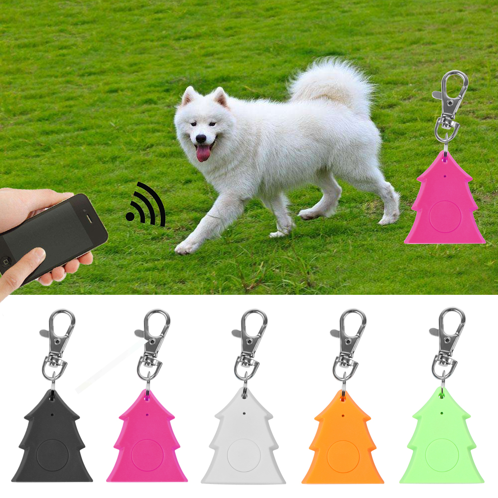 Dog Accessories Sunny 1pc Mini Pet Dog Tracker Multi-function Smart Bluetooth Gps Locator Alarm Wallet Key Finder Pet Supplies Beautiful And Charming