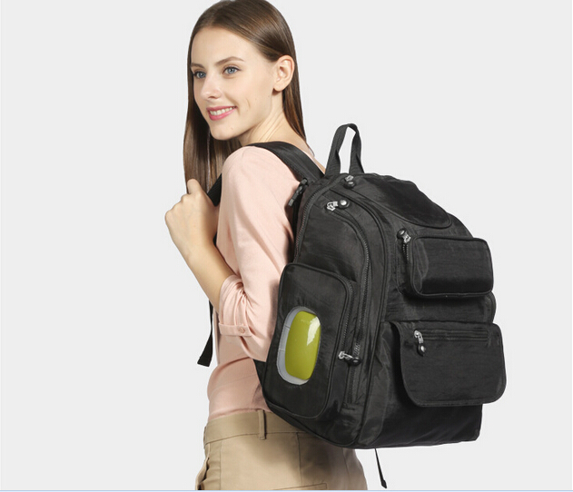 ФОТО Black Backpack Baby Diaper Bags Maternity Bag Organizer For Mom Changing Nappy Handbags Mother Bags Baby Stroller Bag Fashion