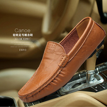 2016 High Quality Genuine Leather Men's Shoes Leather Lazy Man Fashion Mocasines Hombre Shoes Men Zapatillas Hombre