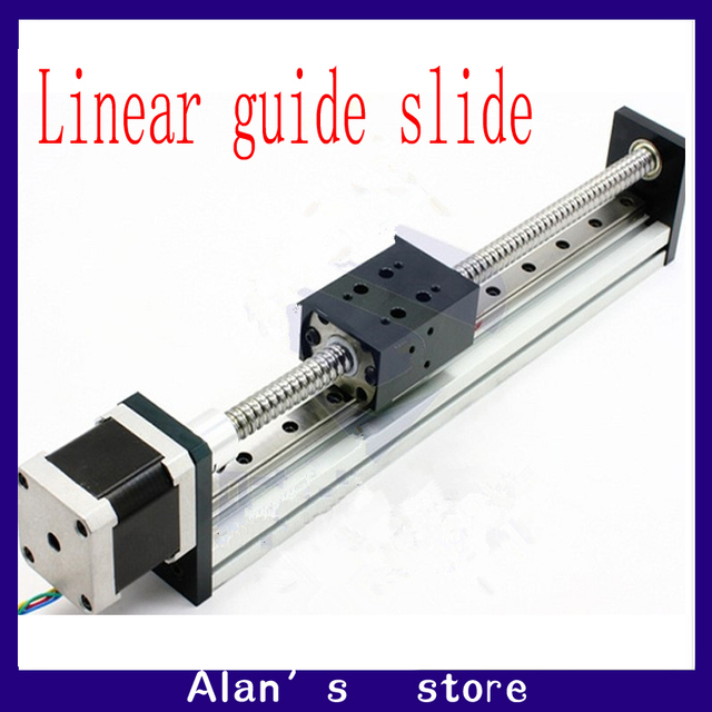 CBX1204-100 stepper motor ball screw slide rail linear slide containing  42/57 stepper motor linear guide slider manipulator