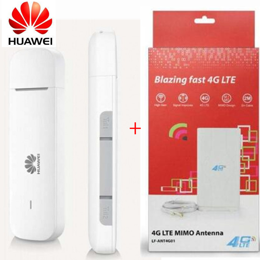 Hot selling Huawei E3372 4G USB Stick E3372h 607 with 2m cables Antenna 150Mbps 4G LTE