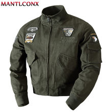 MANTLCONX 2019 Military Jacket Men Army Pilot Jackets Air Force Cargo Coat Autumn Flight Jacket Men Spring Cotton Jacket Coat цена