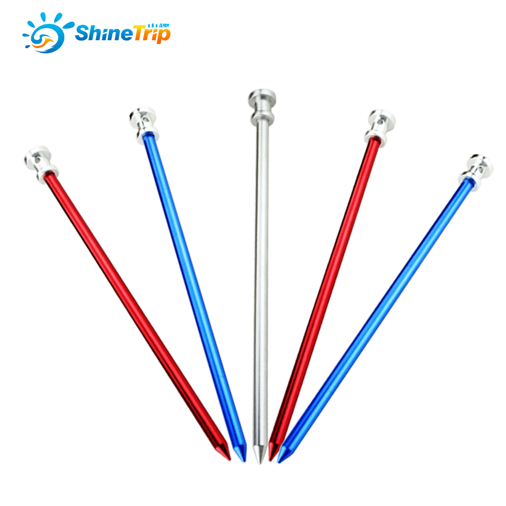 4pcs 23cm Outdoor C&ing Tent Pegs Aluminum Tent Nails Long Garden Stakes-in Tent Accessories from Sports u0026 Entertainment on Aliexpress.com | Alibaba Group  sc 1 st  AliExpress.com & 4pcs 23cm Outdoor Camping Tent Pegs Aluminum Tent Nails Long ...