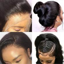 180% Glueless Lace Front Human Hair Wigs Remy Pre Plucked Brazilian Body Wave Lace Frontal Wig With Baby Hair For Black Women