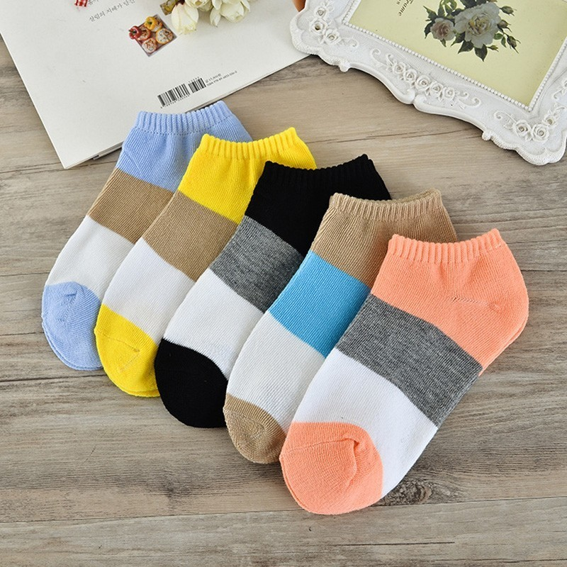 Socks   Women's Ladies Cute   Socks   Fashion Casual   Socks   shallow mouth stripes slip breathable short tube boat   Socks