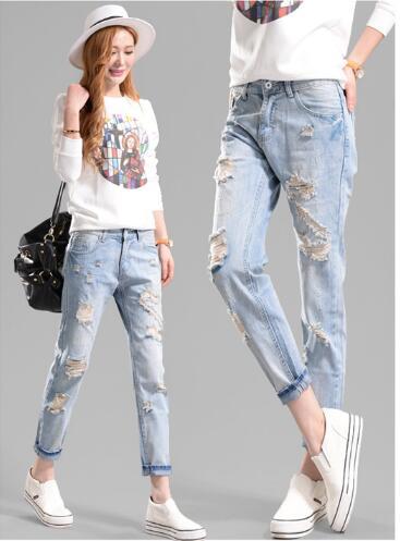 Wholesale 2017 new fashion jeans Loose pants pants feet beggars jeans