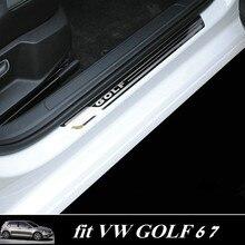 Para Volkswagen VW Goft 6 7 2010-2018 Carro de Aço Inoxidável do Peitoril Da Porta Da Placa do Scuff fit for Golf 6 7