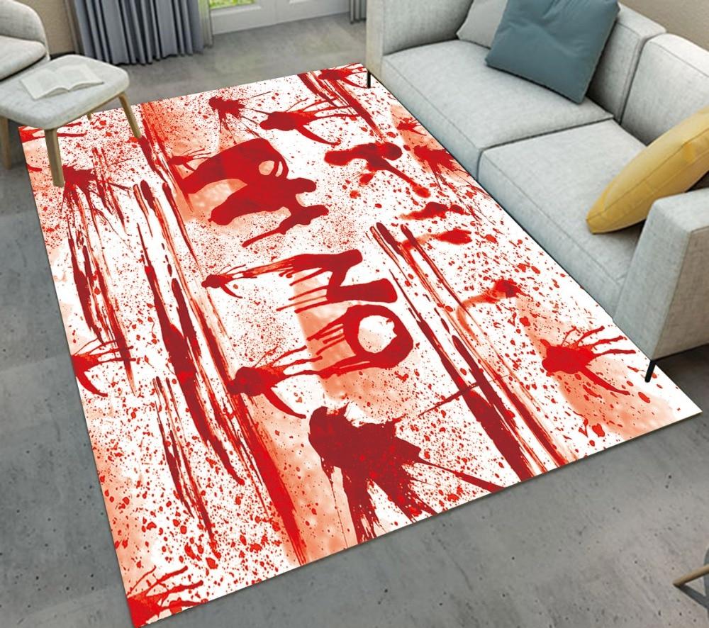 Halloween Girl With Blood Wings Non-slip Bathroom Floor Mat Bath Carpet Rug