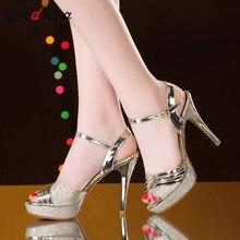 dd0103934f2d0d Kobiety Sexy Peep Toe wysokie obcasy klamra sandały letnie buty kobieta  pompy wysoki obcas sandały na platformie damskie buty sr.