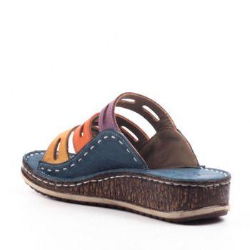 Puimentiua 2019 New Summer Women Sandals Stitching Sandals Ladies Open Toe Casual Shoes Platform Wedge Slides Beach Woman Shoe 1