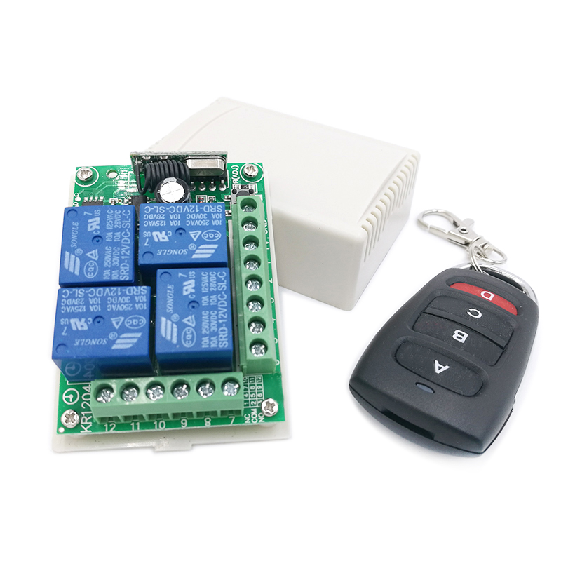 KR1204 433Mhz Relay Wireless Remote Control Switch DC 12V Relay Receiver Module