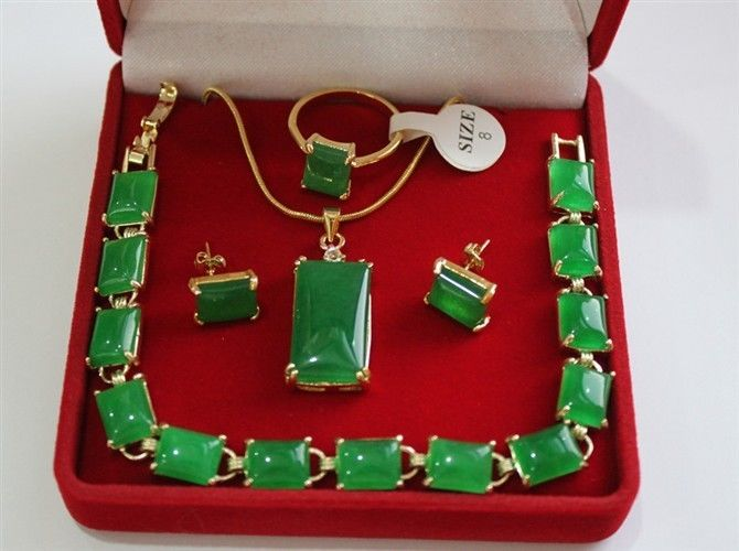 Bijoux fins réel nouvelle mode cubique zircone à la mode % pierre naturelle lien bracelet collier boucles d'oreilles anneau