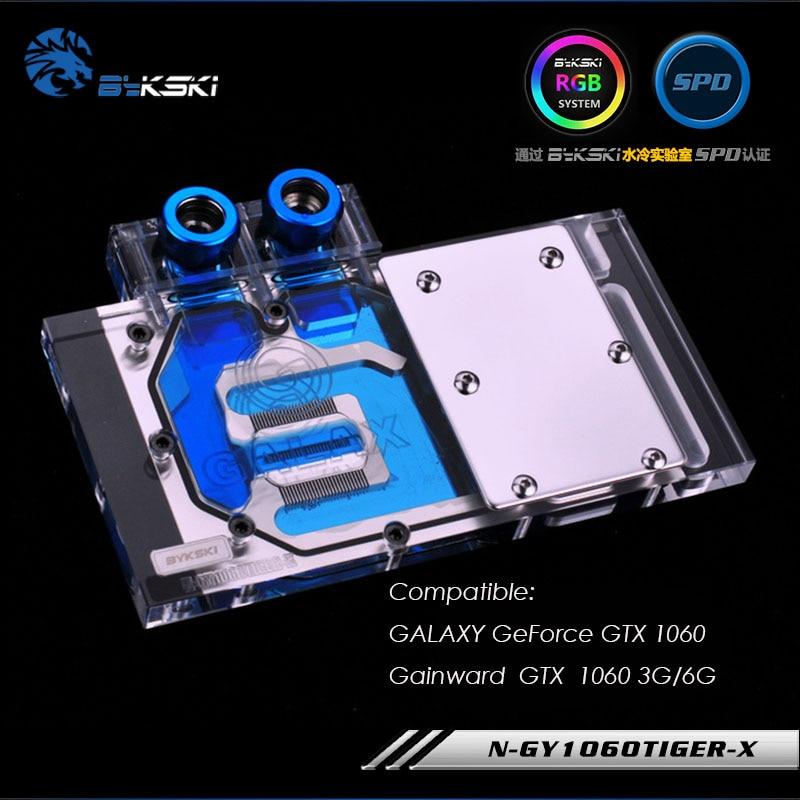 N GY1060TIGER X Bykski GPU cooler work with GALAXY GeForce GTX 1060 Gainward GTX 1060 3G