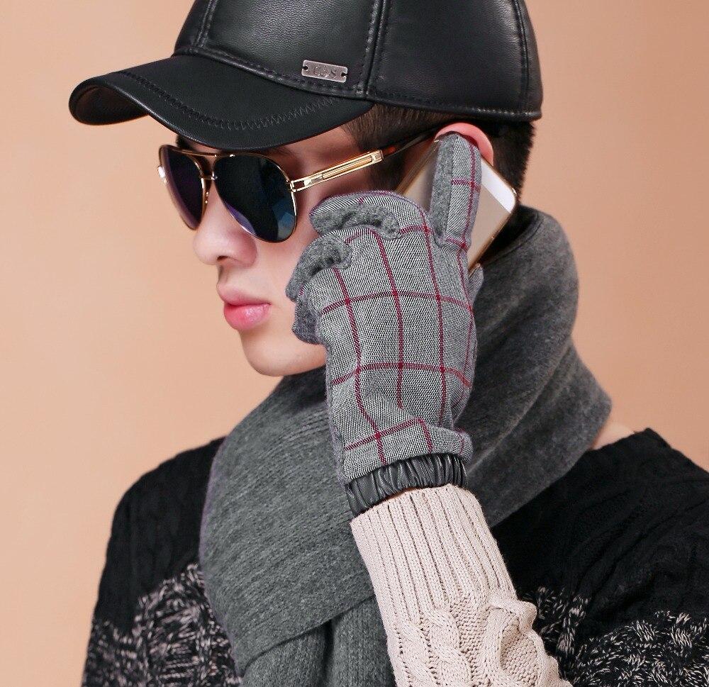 Mens leather gloves rei - Pigskin Gloves High Quality Winter Men S Leather Gloves For Men Mittensthicken Fleece Warm Long Gloves Male