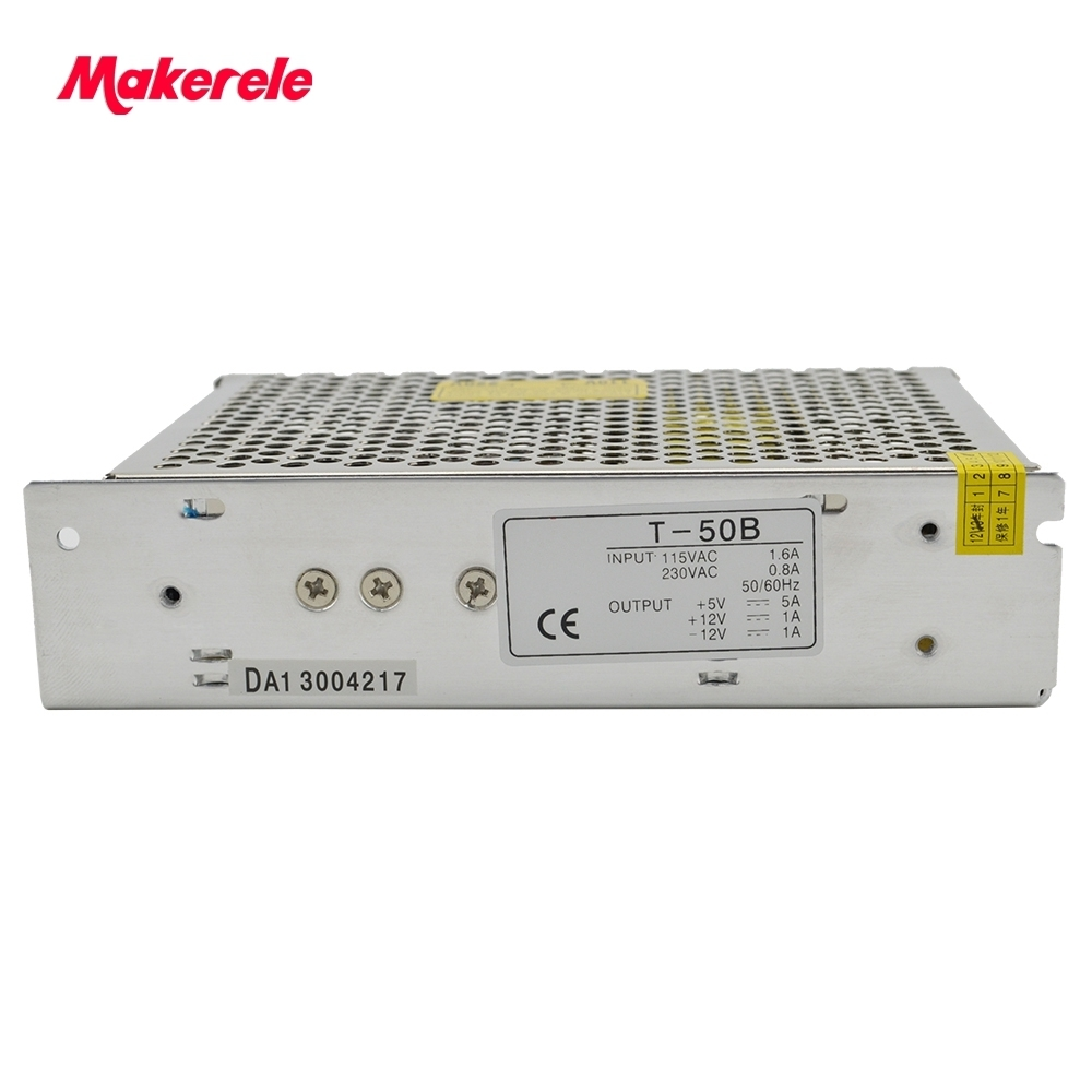 Triple Output Switching power supply 50W 5V 12V -12V 5A 1A 1A ac to dc power supply ac dc converter T-50B high quality meanwell 12v 350w ul certificated nes series switching power supply 85 264v ac to 12v dc