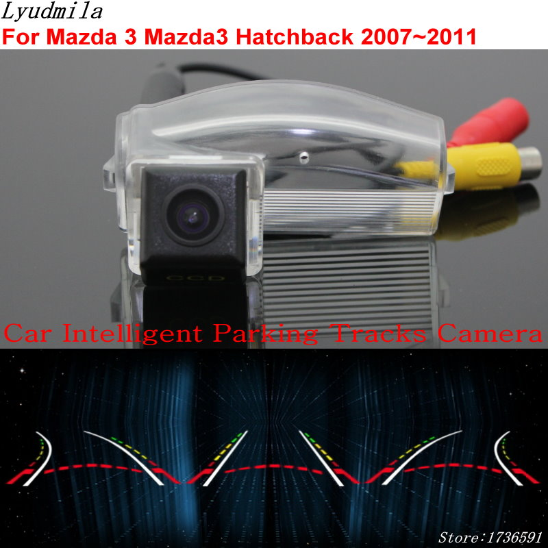 Lyudmila Car Intelligent Parking Tracks Camera FOR Mazda 3 Mazda3 M3 Hatchback 2007~2011 Car Back up Reverse Rear View Camera lyudmila car intelligent parking tracks camera for hyundai creta ix25 2014 2017 hd back up reverse car rear view camera