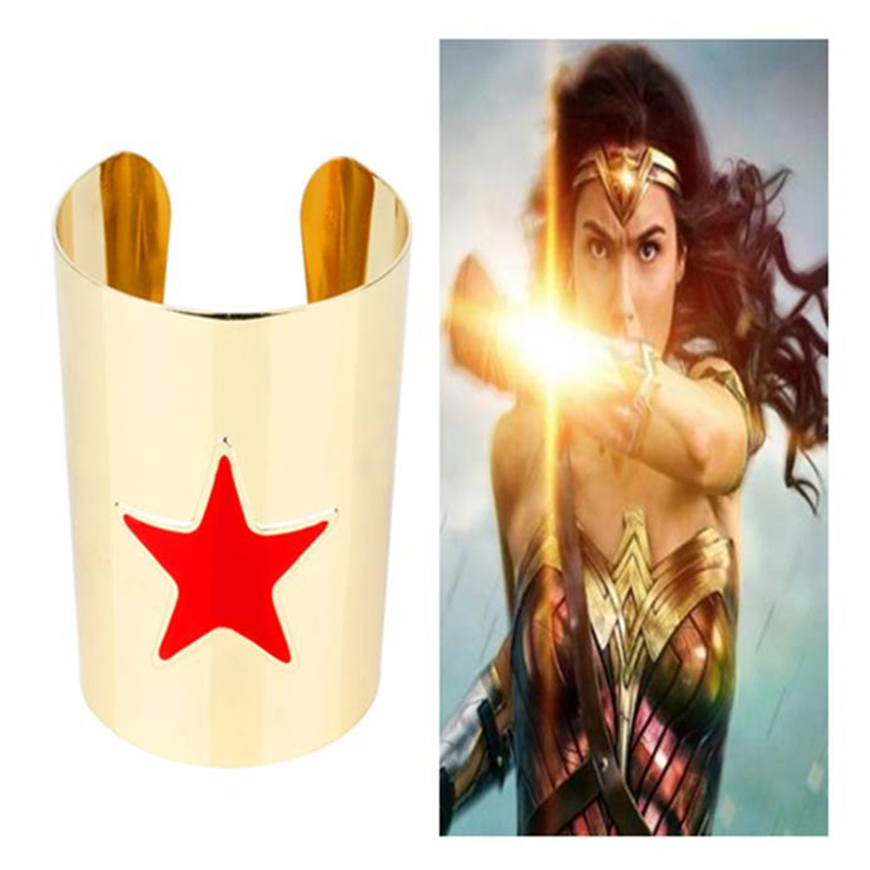 Cosplay Costume Accessories Wonder Woman Superman Batman Justice Dawn Metal Bracelet Bracers Party Play Cool Men And Women apply