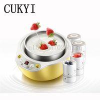 CUKYI 1L Electric Intelligent Multifunction Yogurt Maker Stainless Steel Ceramic Liner Automatic Rice Wine Machine