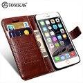Кошелек кожаный чехол для iPhone 6 6S / 6 6S Plus ТОМKAS Марка люкс Чехлы для Apple iPhone 6 S Plus с гнездом для платы и подставки