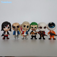 Suicide Squad Action Figure Joker Harley Quinn Deadshot PVC Figure Toys 100mm Suicide Squad Collectible Model Doll 6pcs/set
