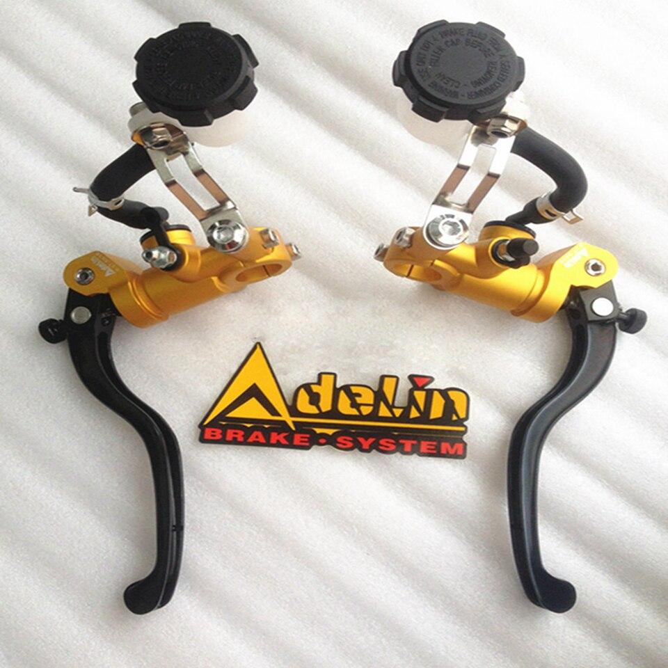 Adelin 16 ミリメートルオートバイブレーキクラッチマスターシリンダー油圧ポンプの Led クロームドアハンドル R6 Fz6 Gsxr600 Zx 6r Z800 ヤマハカワサキ  グループ上の 自動車 &バイク からの レバー、ロープ & ケーブル の中 1