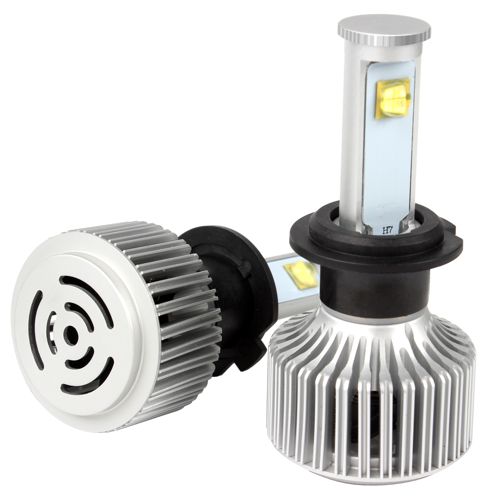 H7 Headlight Car Styling 40W/Each Bulb Super Bright All-in-one Version of X7 LED all in one high low beam version of x7 led light source h13 car styling headlight 60w each bulb 6000k 4800lm icarmo