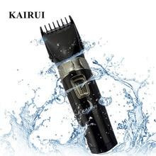 KaiRui Professional Washable Electric Hair Clipper Rechargeable Trimmer Washable Cutter Cordless Haircut Machine for Men Kids