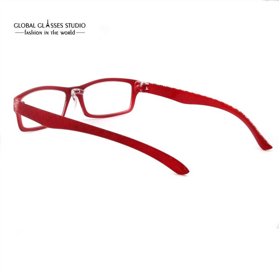 Mode Design Rechteck Objektiv Flexible Kunststoff Dame Brillen Anti ...