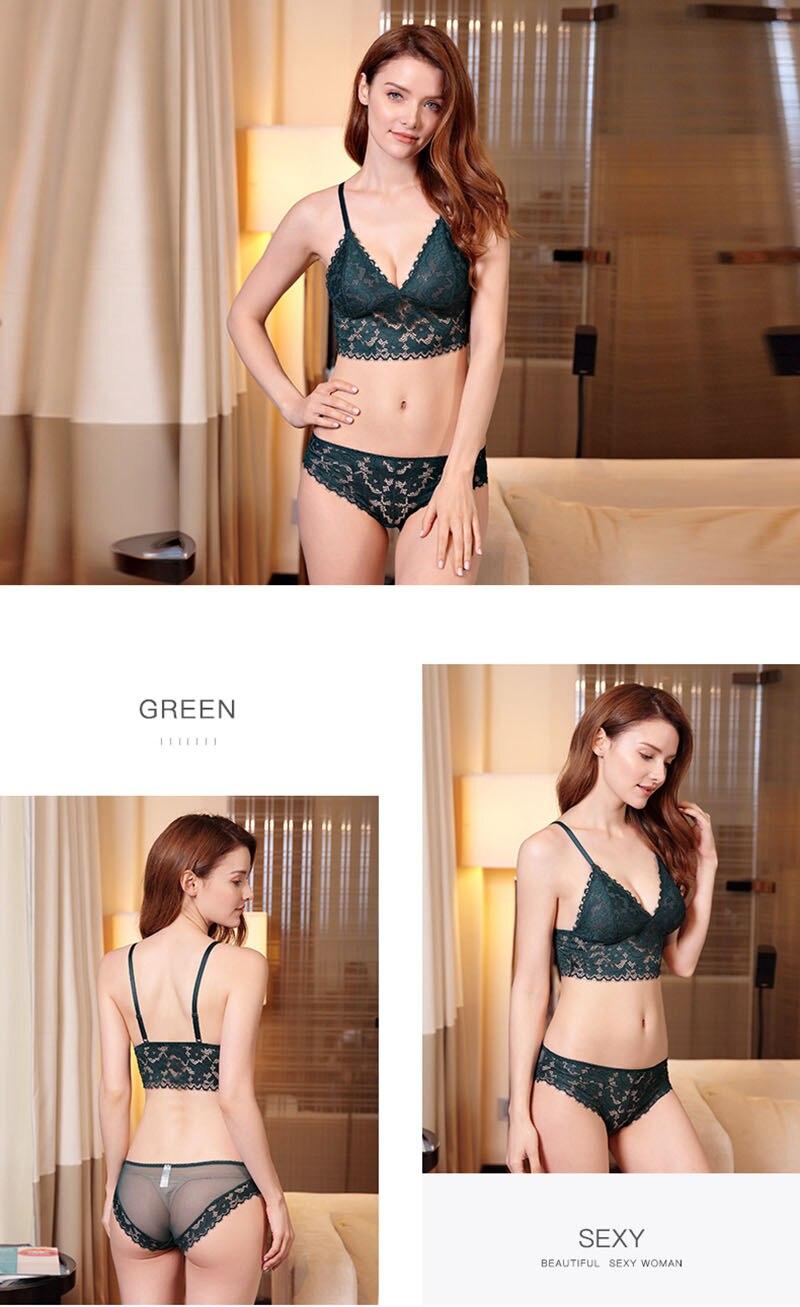 sexy bra set green 1