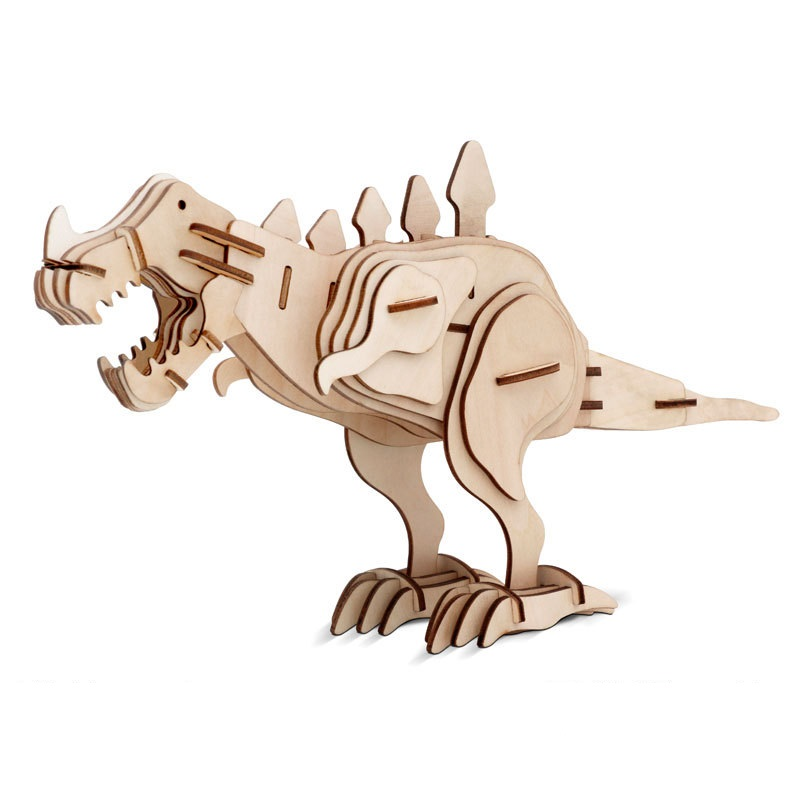 Toys & Hobbies Qualified Action Figures Assembly Construction Sets Wooden 3d Puzzle Dinosaurs Model Toys Kids Teens Adult Diy Educational Tyrannosaurus