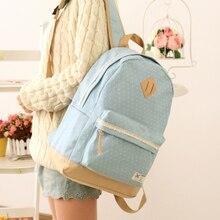 Lindo Mujeres de la Lona Backpack el bolso de Escuela Para La Muchacha de Las Señoras Adolescentes bolsas de Viaje Ocasional Morral BS187