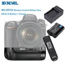 Meike empuñadura de batería de MK DR750 con Control inalámbrico, 2,4g, para Nikon D750 as MB D16 + batería de EN EL15 + cargador