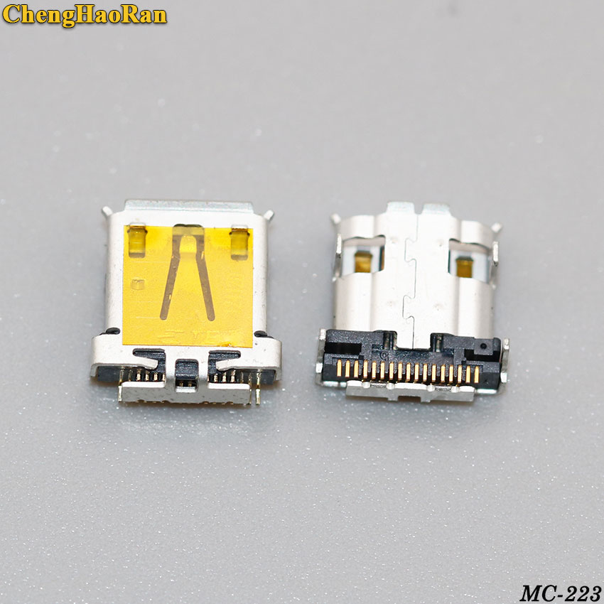 ChengHaoRan 2PCS Micro USB Jack Connector Charging Port Socket Fit For Acer Iconia Tab A700 A701 A510 New 17pin 17P