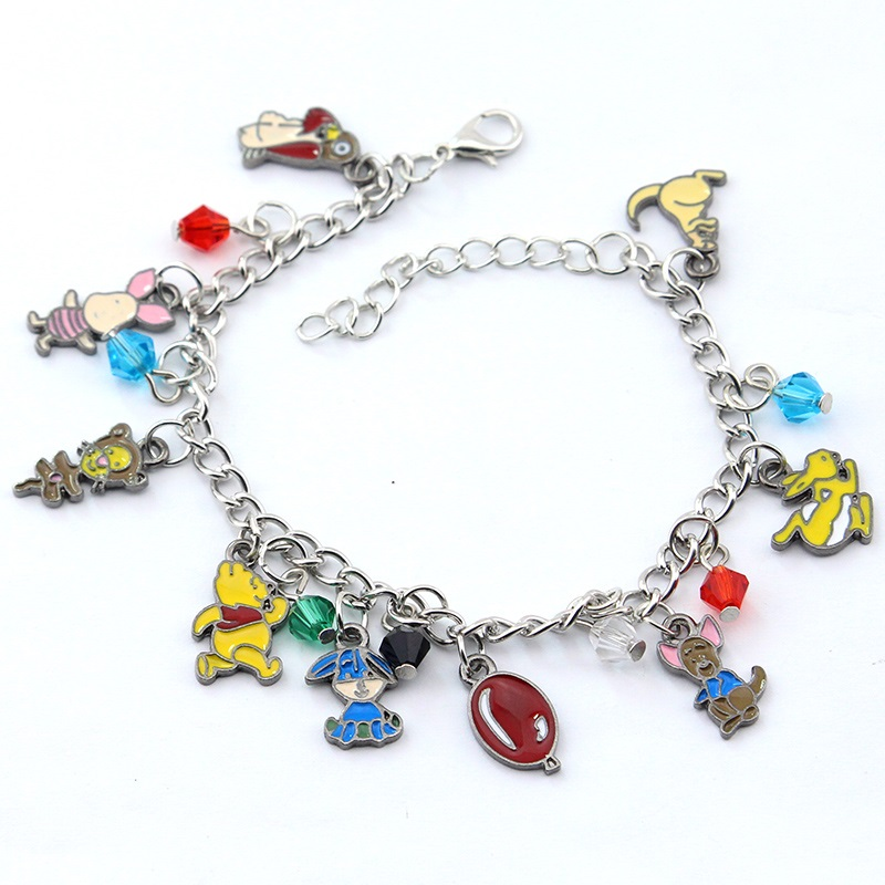 Fashion Anime Winnie Pooh Charm Bracelet Metal Jewelry Gift For Women Justice Christmas Gifts