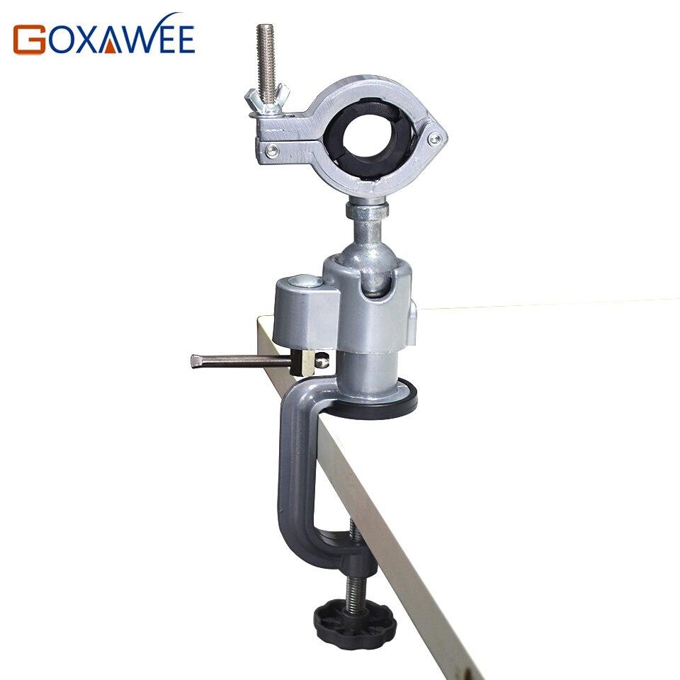 GOXAWEE Mini Drill Werkzeuge Tabelle Vice Halter Mini Umge Schraubstock Legierung Aluminium Bank Tischklemme für Dremel Bohrer werkzeuge