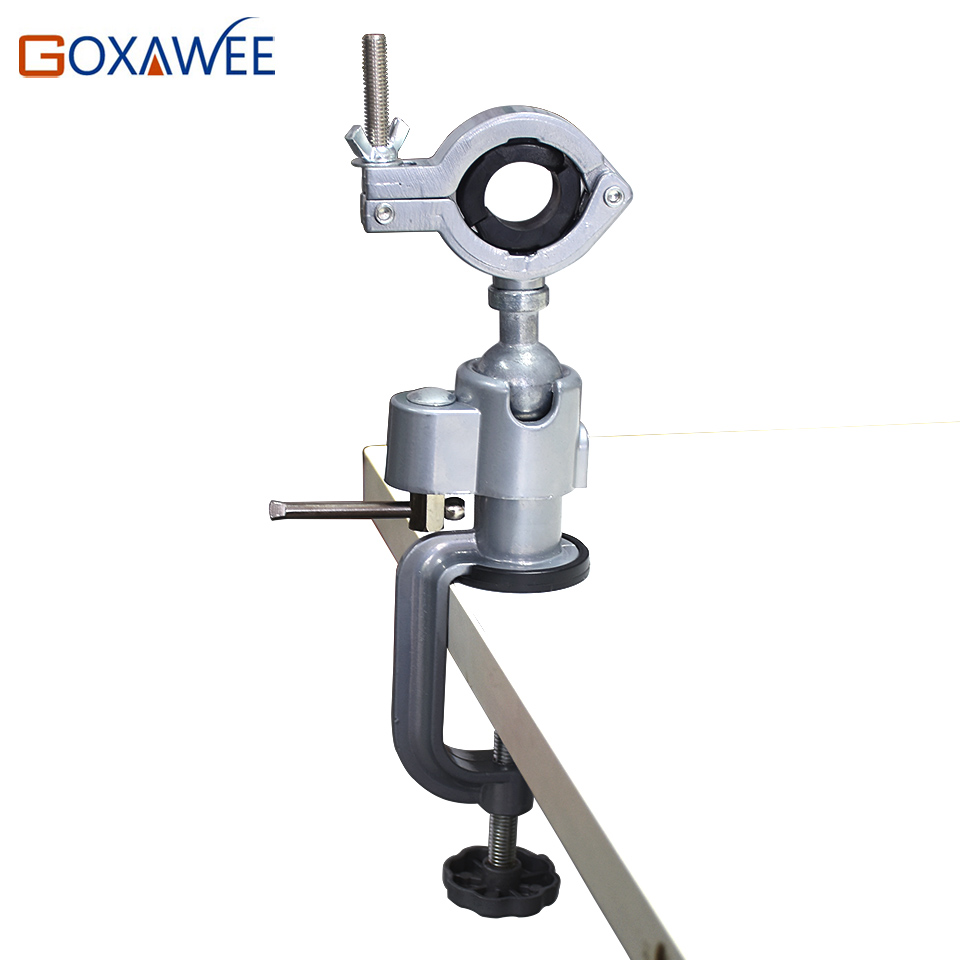 GOXAWEE Mini Drill Rotary Tools Table Vice Holder Mini Vice Vise Alloy Aluminium Bench Table Clamp for Dremel Drill tools mini table vice adjustable max 37mm plastic screw bench vise for diy jewelry craft repair tools dremel power tools accessories