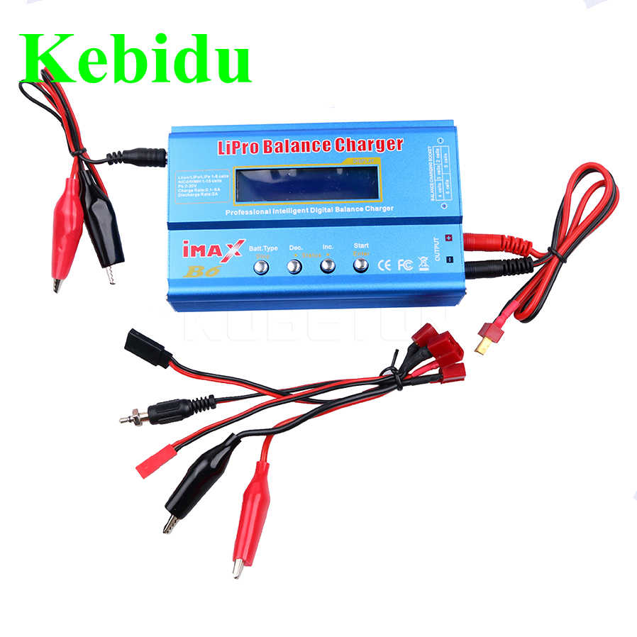 kebidu High Quality New iMAX B6 Lipro NiMh Li-ion Ni-Cd RC Battery Balance Digital Charger Discharger with LED Screen