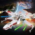 Star Wars Vermelho Cinco X-Asa Starfighter Blocos Tijolos Star Wars Millennium Falcon 7 Escala Kits de Construção Compatível Legoe modelos