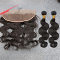 Free Ship 8A Ear to Ear Lace Frontal Closure With Bundle Peruvian Virgin Hair Body Wave Slove Rosa Product 13x4 With 2/3 Bundle